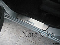 Накладки на пороги Daihatsu TERIOS 2008- / Дайхатсу Териос premium
