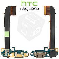 Шлейф для HTC One M7 801e коннектора зарядки, микрофона, с компонентами, оригинал