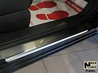 Накладки на пороги Kia CARENS III 2006- / Киа Каренс premium