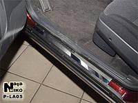Накладки на пороги Lada PRIORA 2007 / Лада Приора premium