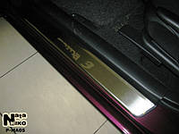 Накладки на пороги Mazda 3 I 2003-2008 / Мазда 3 premium