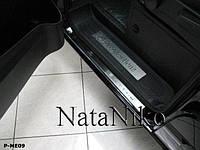 Накладки на пороги Mercedes-Benz VIANO 2004- / Мерседес Виано premium
