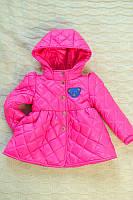 Детская Куртка на девочку мишка малина  на рост 86-110см