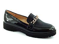 Качественные туфли на тракторной подошве черные