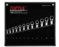 Набор ключей комбинированных трещоточных Toptul GPAQ1203 (реверс)12 шт