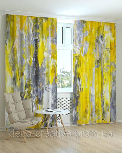 Фотошторы абстракция желтая листва