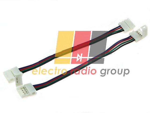 Коннектор-соединитель с проводами для ленты 10мм(SMD5050RGB) A2T4P10 4pin
