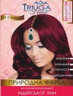 Натуральная краска для волос на основе хны - махагонТриюга Хербал 25 г