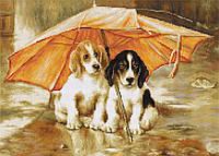 """Набор для вышивания нитками  """"Двое под зонтом"""""""
