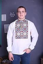 Мужская вышиванка из льна