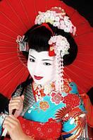 Канзаши-Японские цветы из ткани.