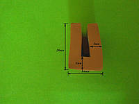 Уплотнитель силиконовый П-образный 4мм
