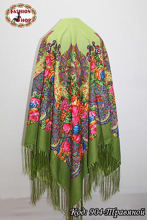 Павлопосадский травяной платок Джиорджина, фото 2