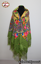 Павлопосадский травяной платок Джиорджина, фото 3