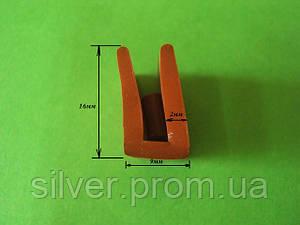 Уплотнитель силиконовый П-образный
