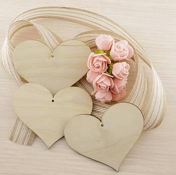 Сердце 1 Фанера 95Х79Х4 мм фигурка на день влюбленных, заготовка
