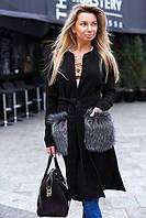 Женское кашемировое пальто 42-48 44-46, бежевый