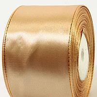 Лента атласная с люрексом золото (5 см, 25 ярд)