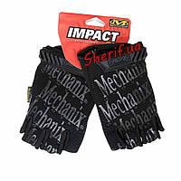 Перчатки черные короткопалые Mechanix Wear беспалые V2 Black BD5389