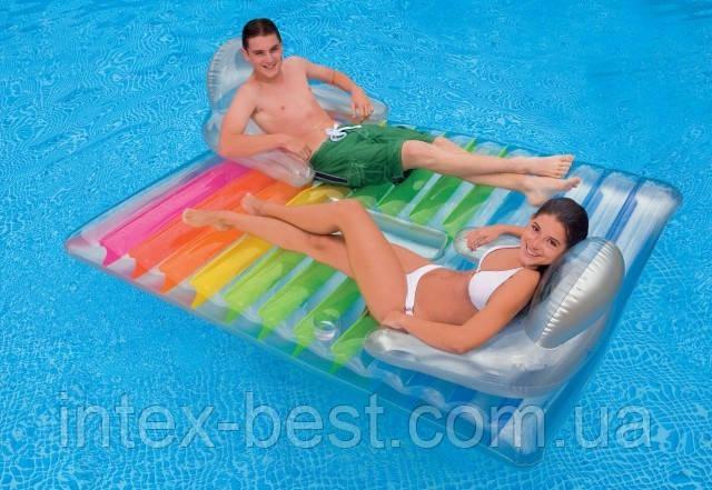 Пляжное надувное матрас-кресло для двоих Intex 58877, фото 2