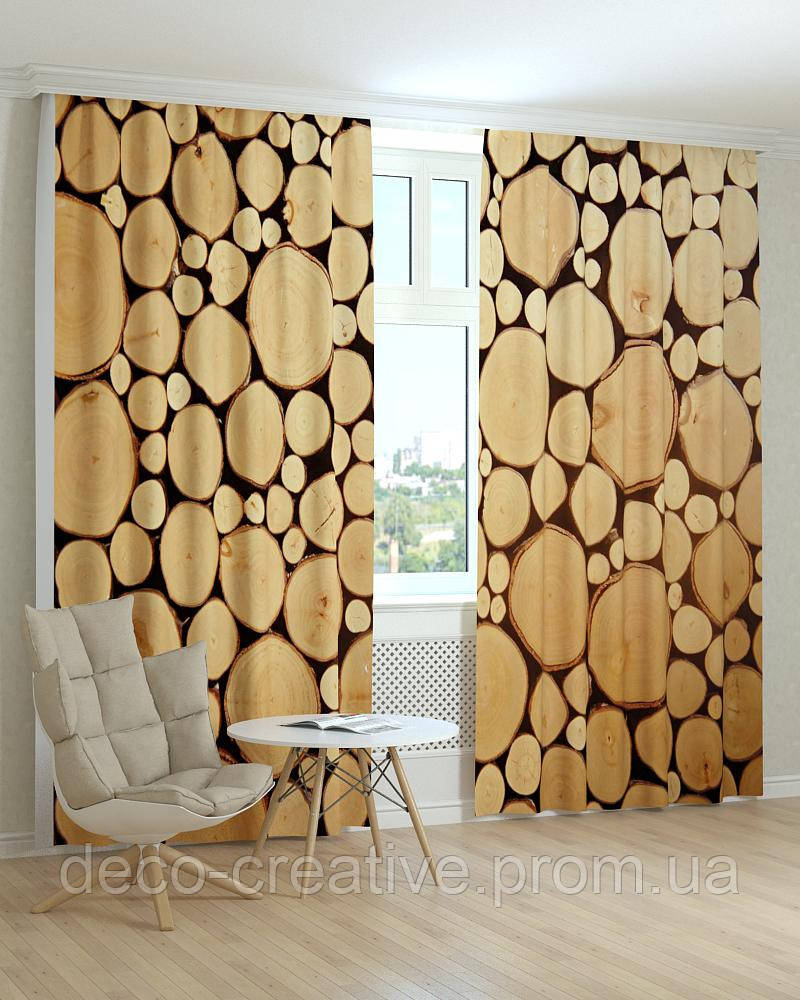 Фотошторы текстура дерева