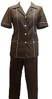 Костюм для горничных с брюками коричневый Atteks - 00809