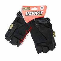 Перчатки черные короткопалые Mechanix Wear беспалые V2 Black BD5389 XL