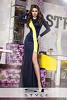 Платье макси женское с большим разрезом