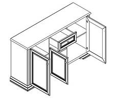 Комод 3D1S Соната каштан (Гербор ТМ), фото 2
