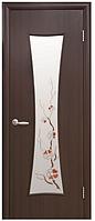 Часы-Р1 Венге (60, 70, 80, 90см). Коллекция Модерн. Межкомнатные двери МДФ Новый Стиль