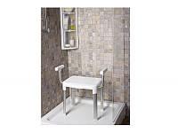 Стул- кресло с поручнями, алюминиевый каркас
