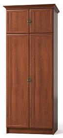 Шкаф Барон  2066х800х560мм орех   Мебель-Сервис
