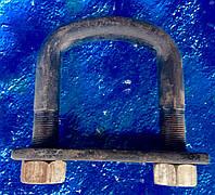 Стремянка ушка задней рессоры ЗИЛ-130+2 гайки