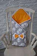 Весенний конверт-одеяло на выписку Лисички