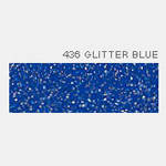Термопленка Poli-Tape POLI-FLEX IMAGE GLITTER 436 BLUE ( синий глиттер )