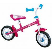 "Детский беговел STAMP Barbie 10"" (pink-white), беговел для девочек"