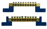 Нулевая шина бруском с изоляторами ВС - 1А 6 отв.