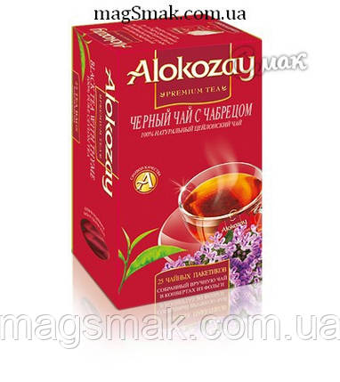 Чай Alokozay (Алокозай) черный с чабрецом, 25 ПАК. САШЕТ, фото 2