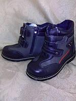 Ботинки синие демисезонные для мальчика