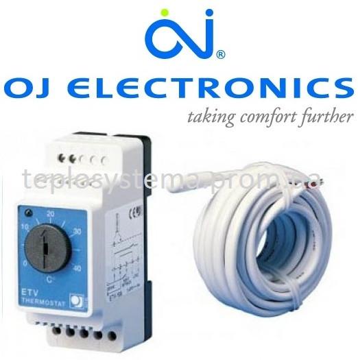 Терморегулятор для теплого пола ETV-1991 OJ Electronics (на DIN-рейку), Дания
