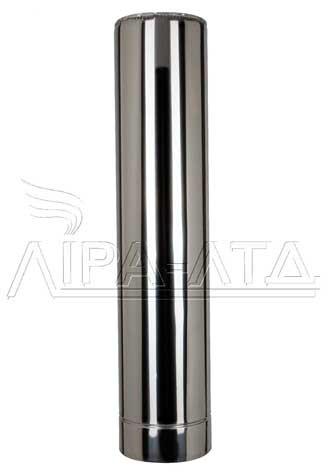 Труба-сэндвич дымоходная (термо) 1 метр 0,8 мм н/н AISI 304