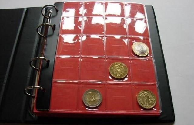 Альбомы и листы для монет