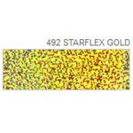 Термопленка голографическая POLI-FLEX IMAGE starflex gold 492 (голографическое золото)