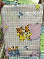 Детское постельное белье в кроватку , 100% хлопок (эконом упаковка)