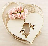 Сердце ангел Фанера 4Х130Х150 мм (товар при заказе от 200 грн)