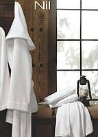 Короткий махровый халат с капюшоном Eke Home NIL white L/XL