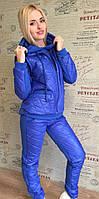 Женский спортивный костюм тройка с карманами и капюшоном , фото 1