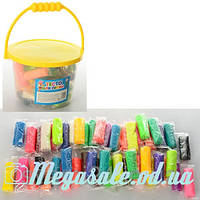 Тесто для лепки (пластилин для лепки) 24 цвета: 48 штук (в стиках), 960 грамм