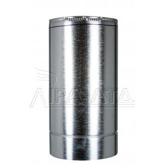 Труба-сендвіч димохідна (термо) 0,5 метра 0,8 мм н/оц AISI 304