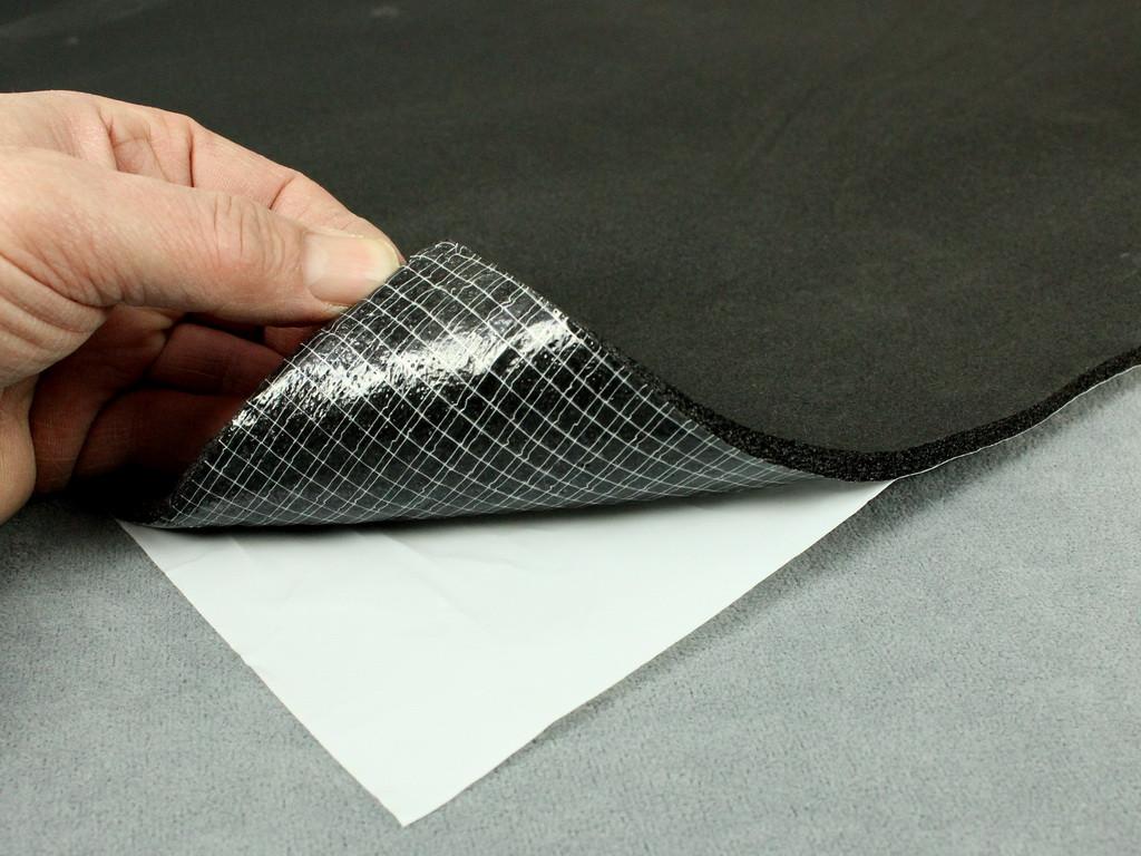Шумоизоляция для авто каучуковая 6 мм, Flex-optimal 6К  самоклейка, лист 75х100 см.